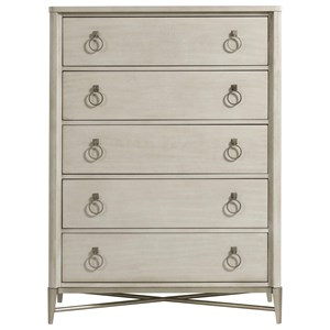 Glam 5-Drawer Chest with Jewelry Hardware