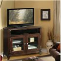 Riverside Furniture Marlowe Corner TV Console with 2 Beveled Glass Doors  - 65841 - Shown in Room Setting