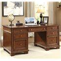 Riverside Furniture Marston Executive Desk - 65530 - Shown in Room Setting