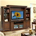 Riverside Furniture Marston Entertainment Wall Unit - 65540+43+48+49 - Shown in Room Setting