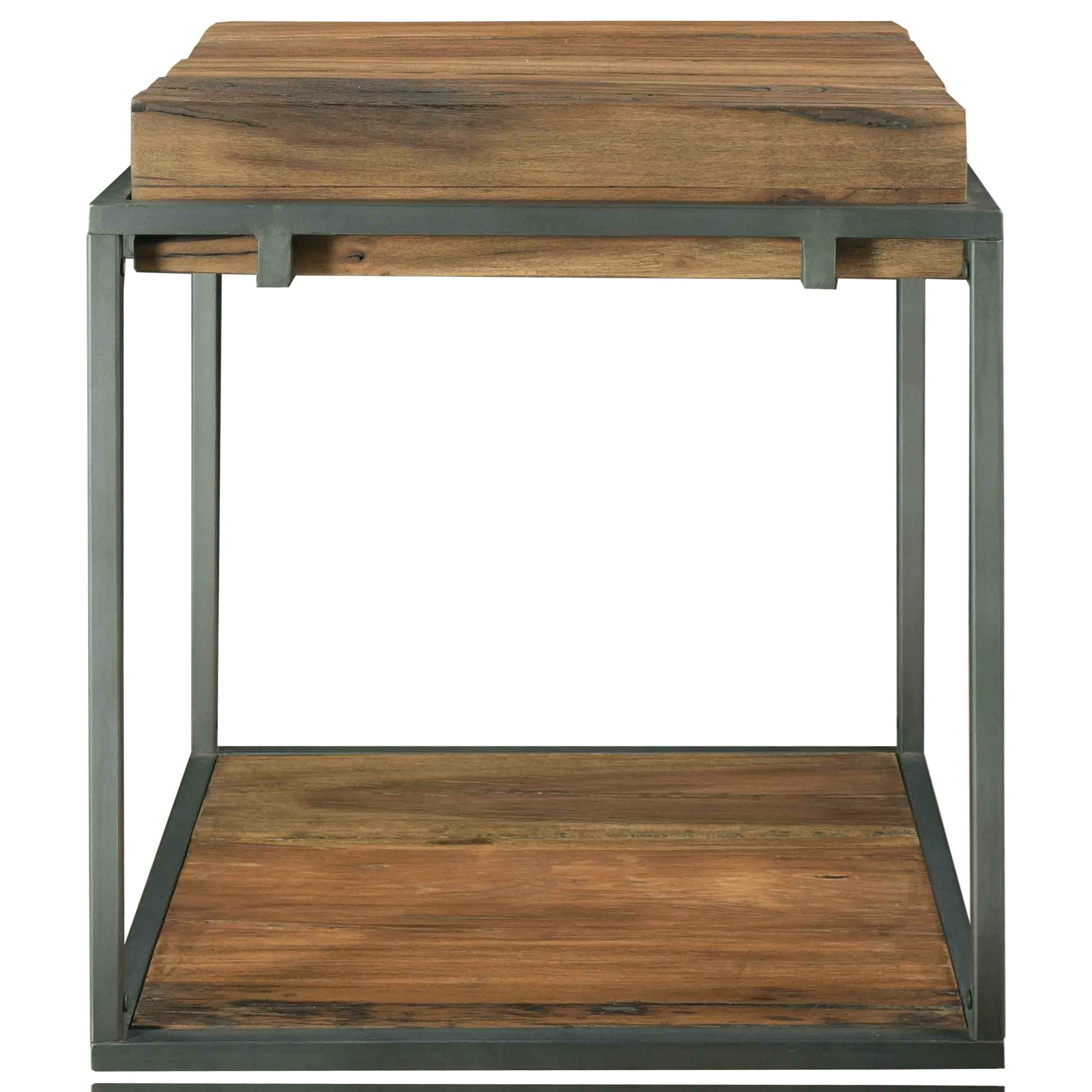 Industrial furniture table Industrial Board Room Square Side Table Custommadecom Riverside Furniture Maverick Industrial Square Side Table With