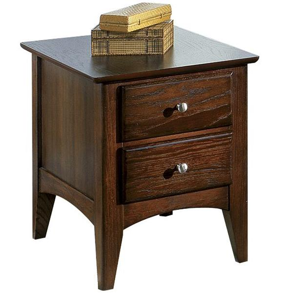 Riverside Furniture Metro II 2 Drawer Side Table - Item Number: 66006