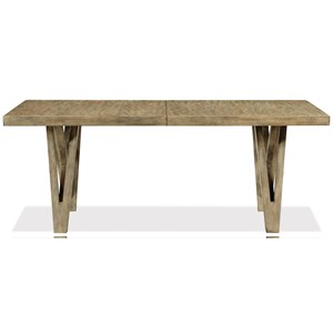 Rustic Rectangular Dining Table with Removable Leaf
