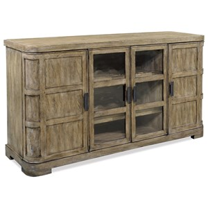 Rustic Buffet with Wine Bottle Storage