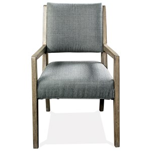 Rustic Upholstered Arm Chair