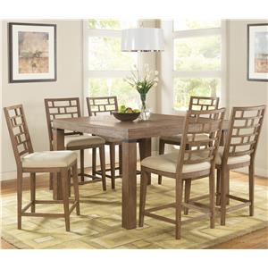 Riverside Furniture Mirabelle 7 Piece Counter Height Set