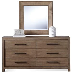 Riverside Furniture Mirabelle Dresser and Mirror Combo