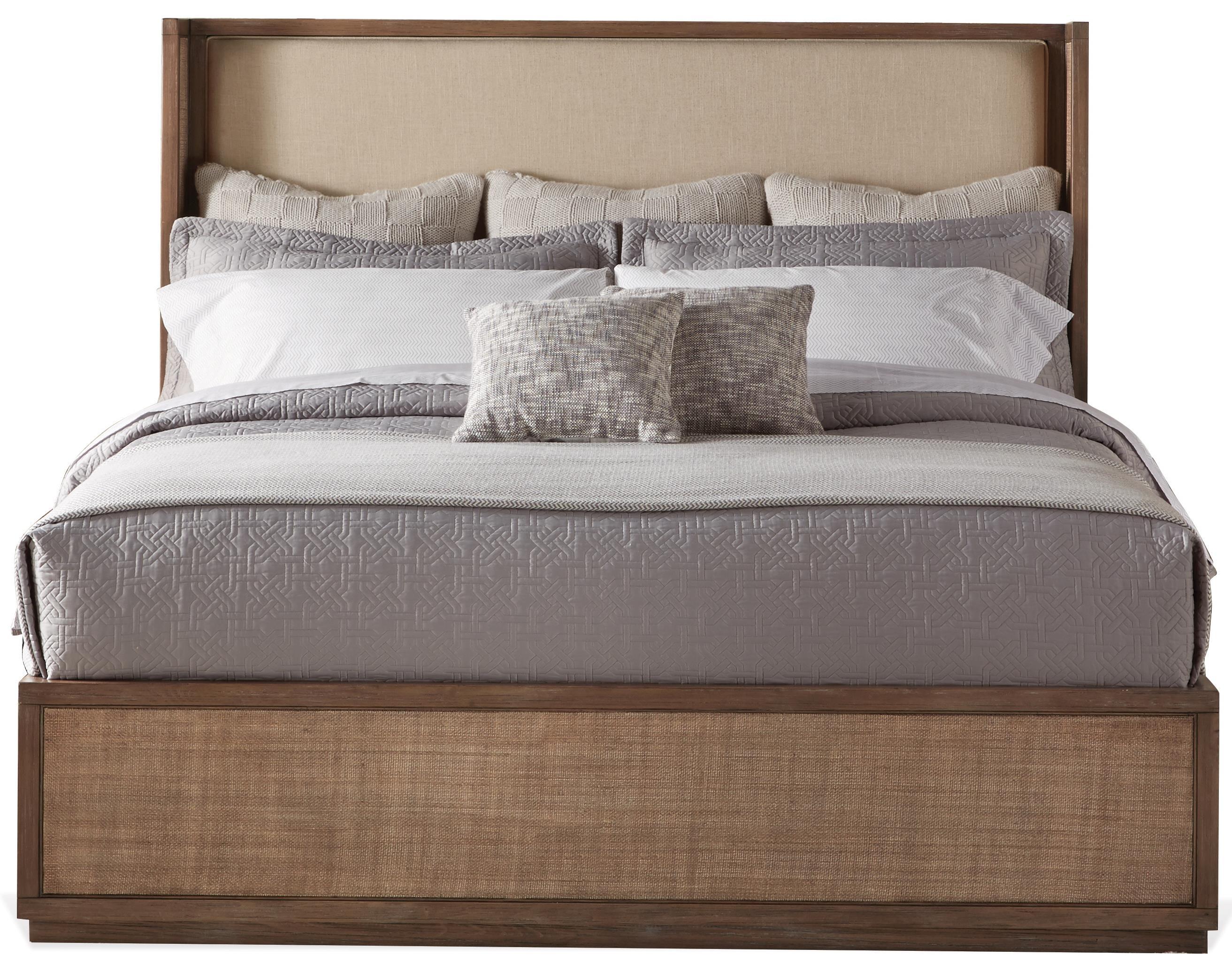 Queen Upholstered Shelter Bed