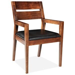 Slat-Bk Uph Arm Chair 2in