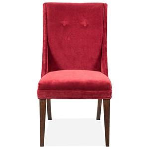 Red Velvet Side Chair 2in