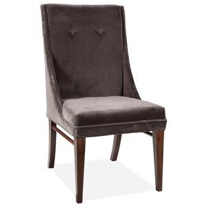 Gray Velvet Sid Chair 2in