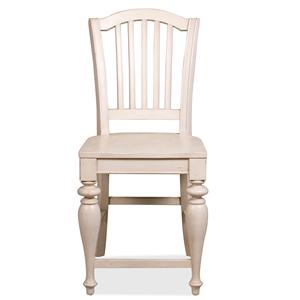 Riverside Furniture Mix-N-Match Chairs Wood Seat Bar Stool
