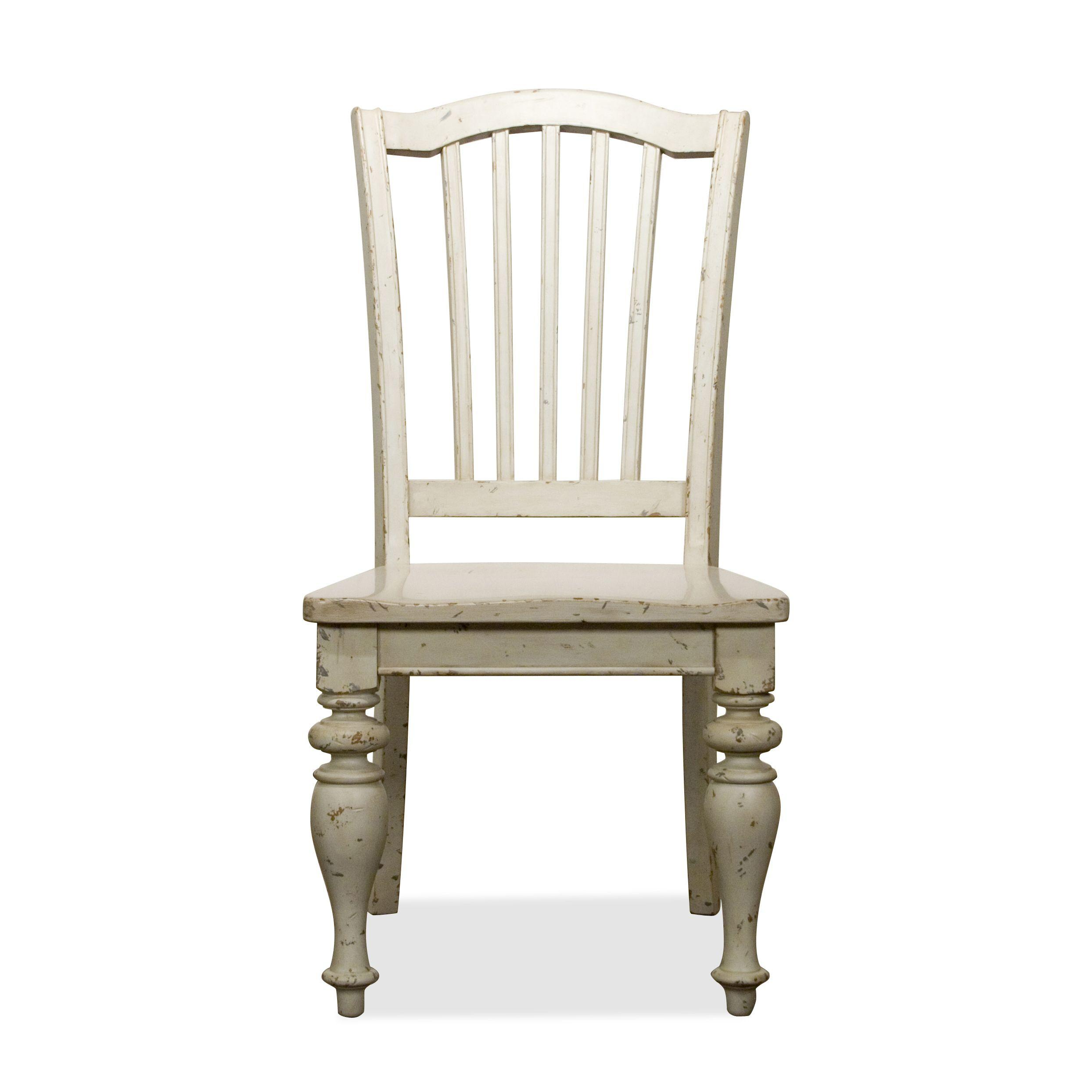 Mix N Match Chairs Dining Side Chair With Wooden Seat By Riverside Furniture