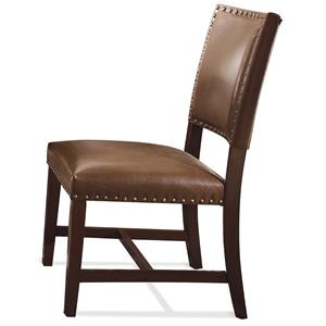 Riverside Furniture Mix-N-Match Chairs Bonded Leather Uph Parson Chair