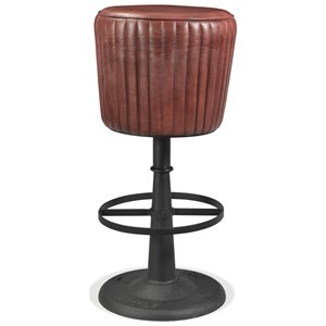 Industrial Swivel Counter Upholstered Stool