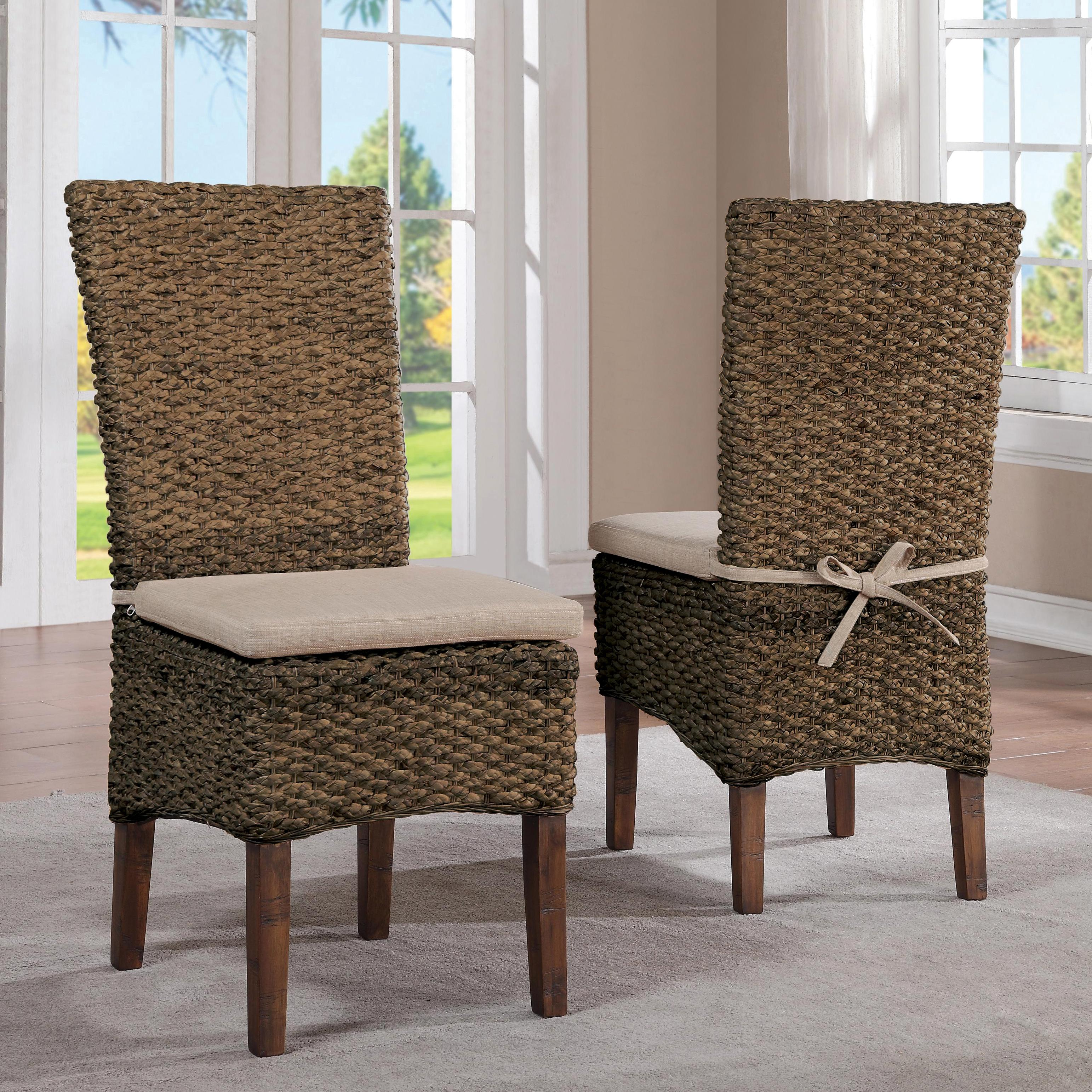 Woven Dining Chairs: Mix-N-Match Chairs Woven Leaf Side Chair By Riverside