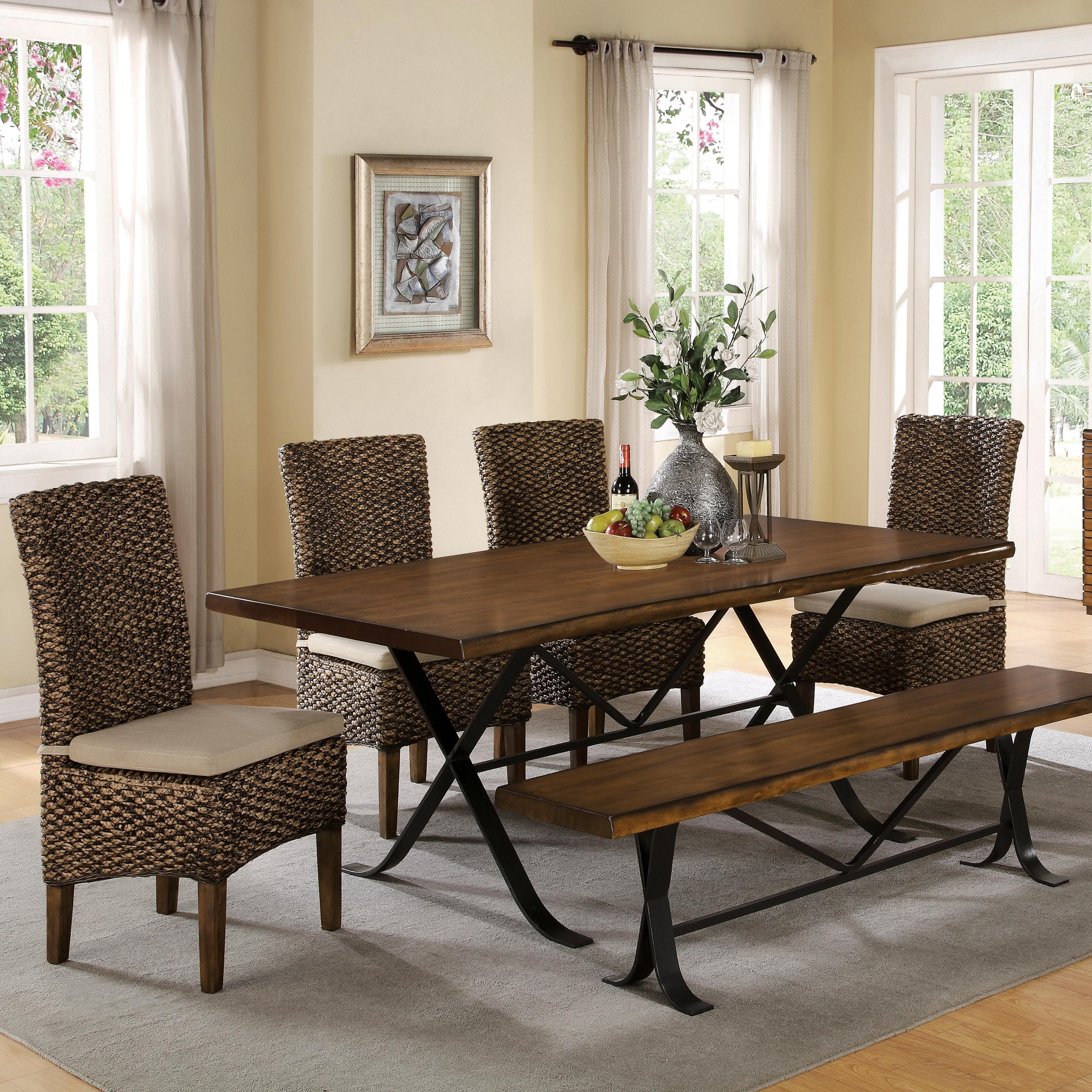 Tables N Chairs: Riverside Furniture Mix-N-Match Chairs Woven Leaf Side