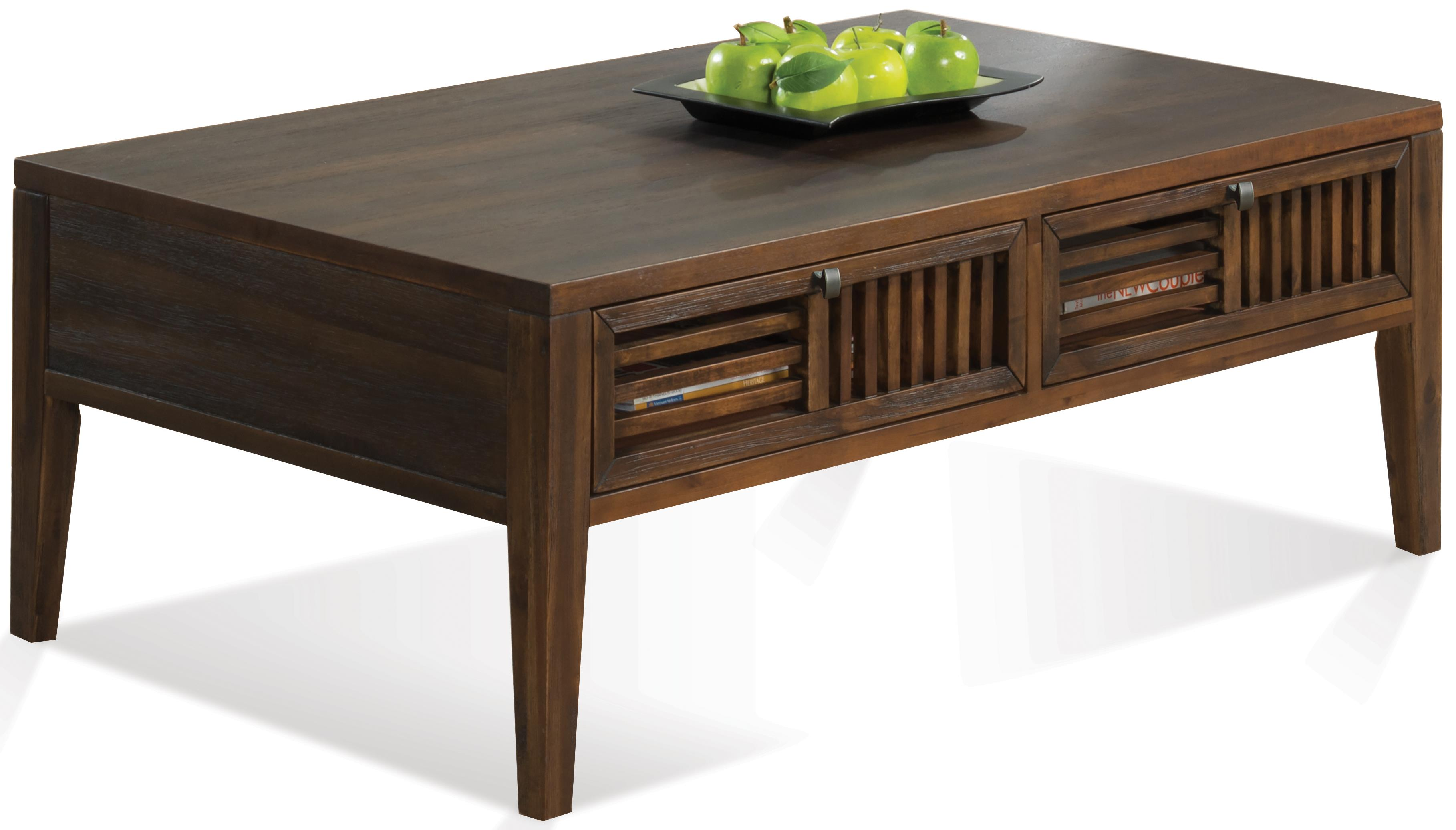 Riverside Furniture Modern Gatherings Open Slat Coffee Table - Item Number: 15303
