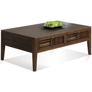 Riverside Furniture Modern Gatherings Open Slat Coffee Table