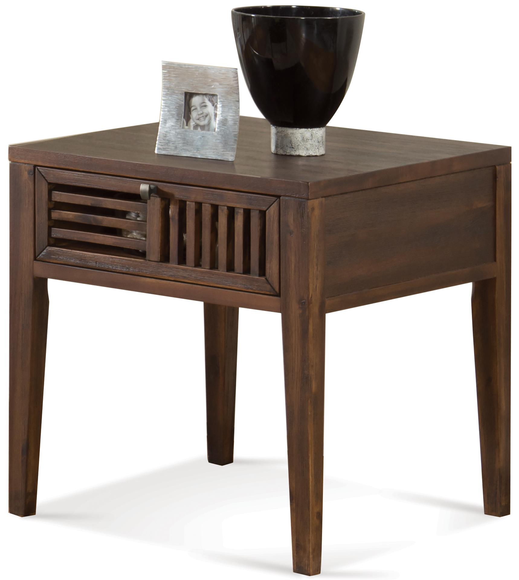 Riverside Furniture Modern Gatherings Open Slat End Table - Item Number: 15307