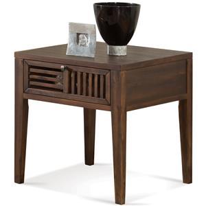 Riverside Furniture Modern Gatherings Open Slat End Table