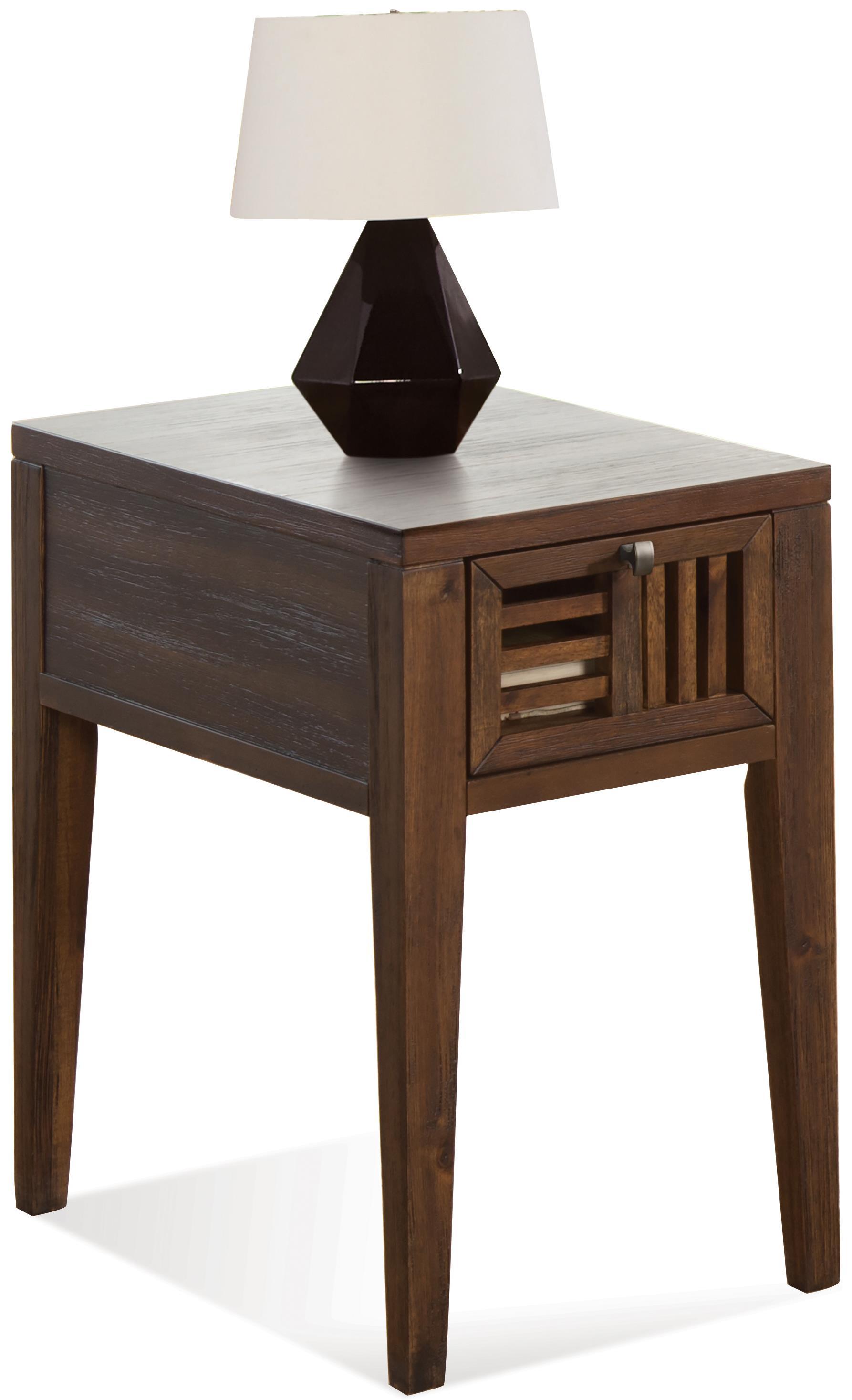 Riverside Furniture Modern Gatherings Open Slat Chairside Table - Item Number: 15311