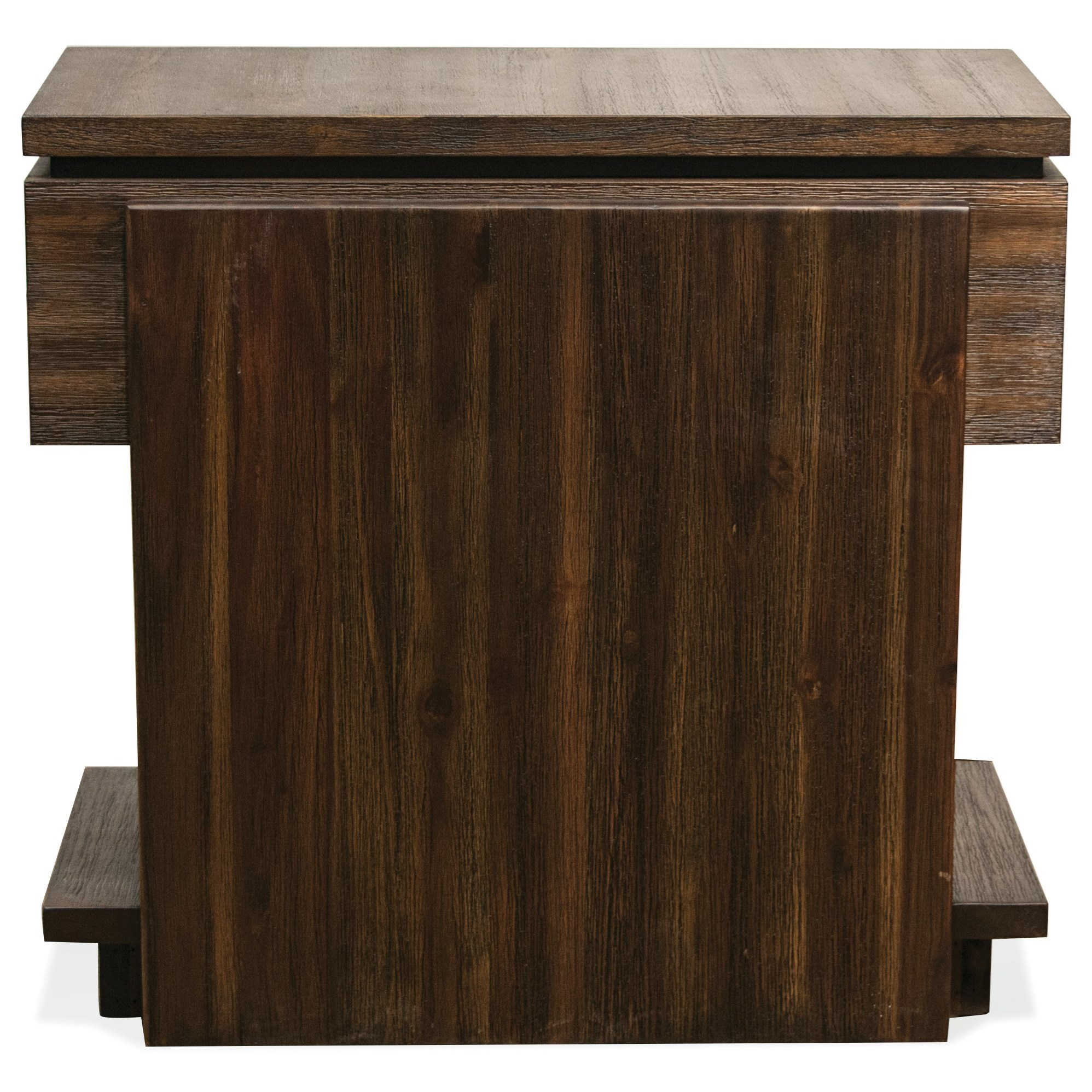 Riverside Furniture Modern Gatherings Contemporary Chairside Table In Brushed Acacia Finish
