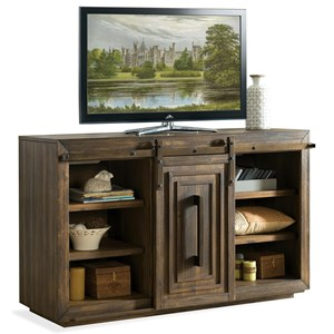Riverside Furniture Modern Gatherings 60in Sliding Door Console