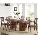 Riverside Furniture Modern Gatherings 7 Piece Table and Chair Set - Item Number: 15350+1+6x9