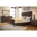 Riverside Furniture Modern Gatherings 6 Drawer Dresser in Brushed Acacia