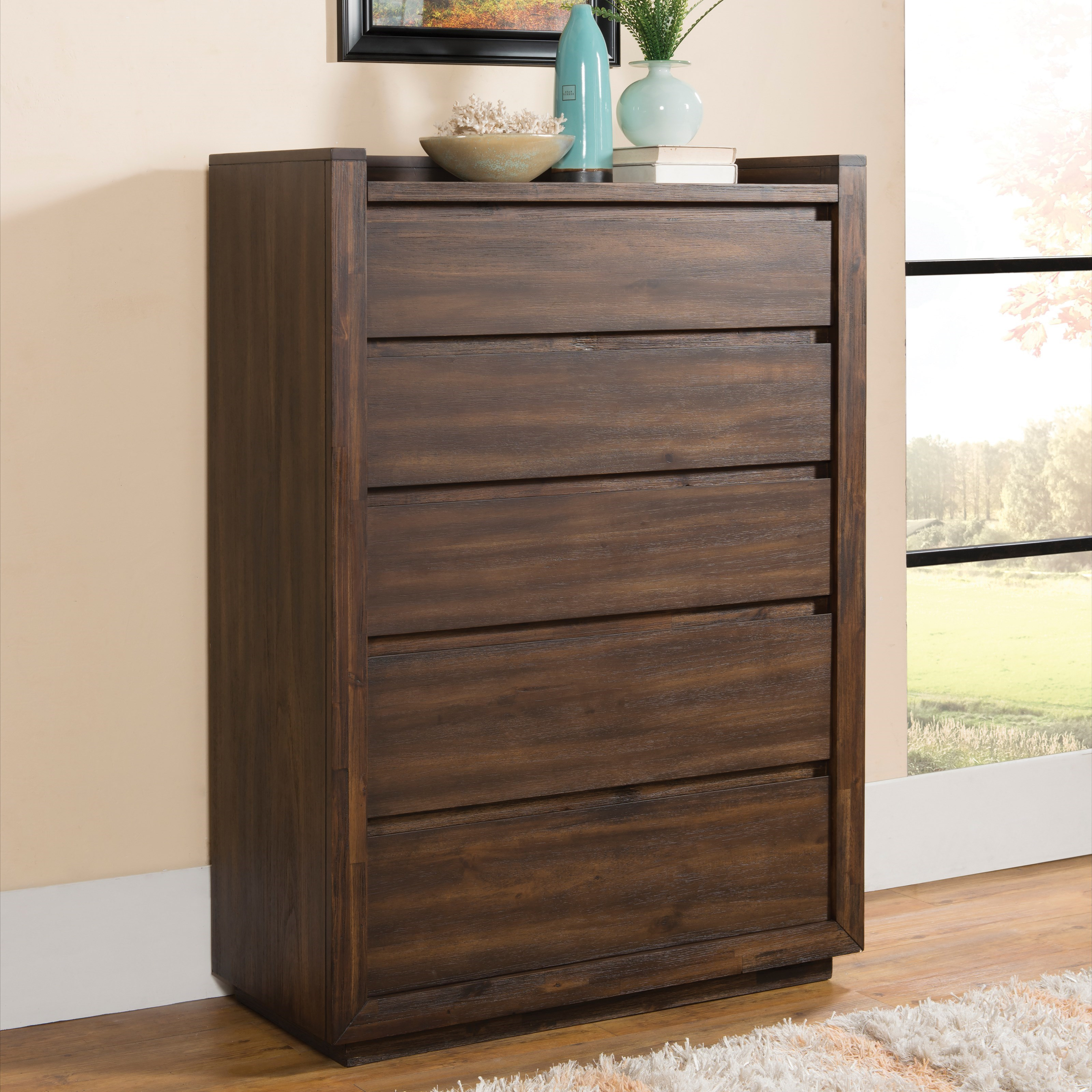 furniture for small bedroom riverside furniture modern gatherings 5 drawer chest in 15365