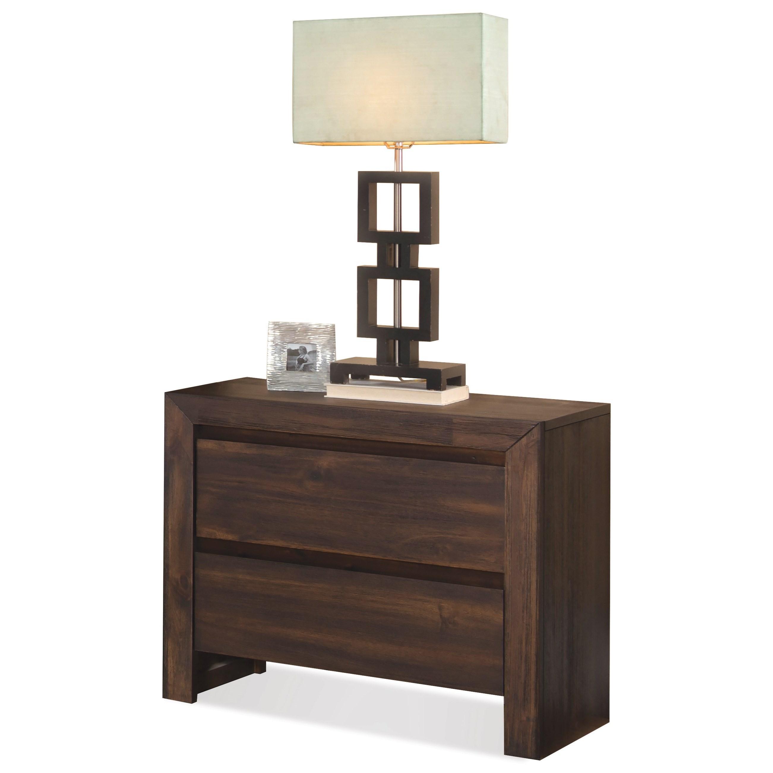 Riverside Furniture Modern Gatherings 2-Drawer Nightstand - Item Number: 15369
