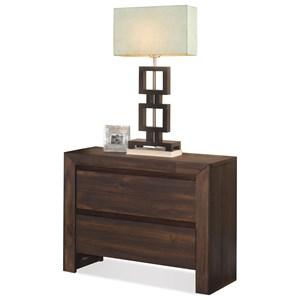 Riverside Furniture Modern Gatherings 2-Drawer Nightstand