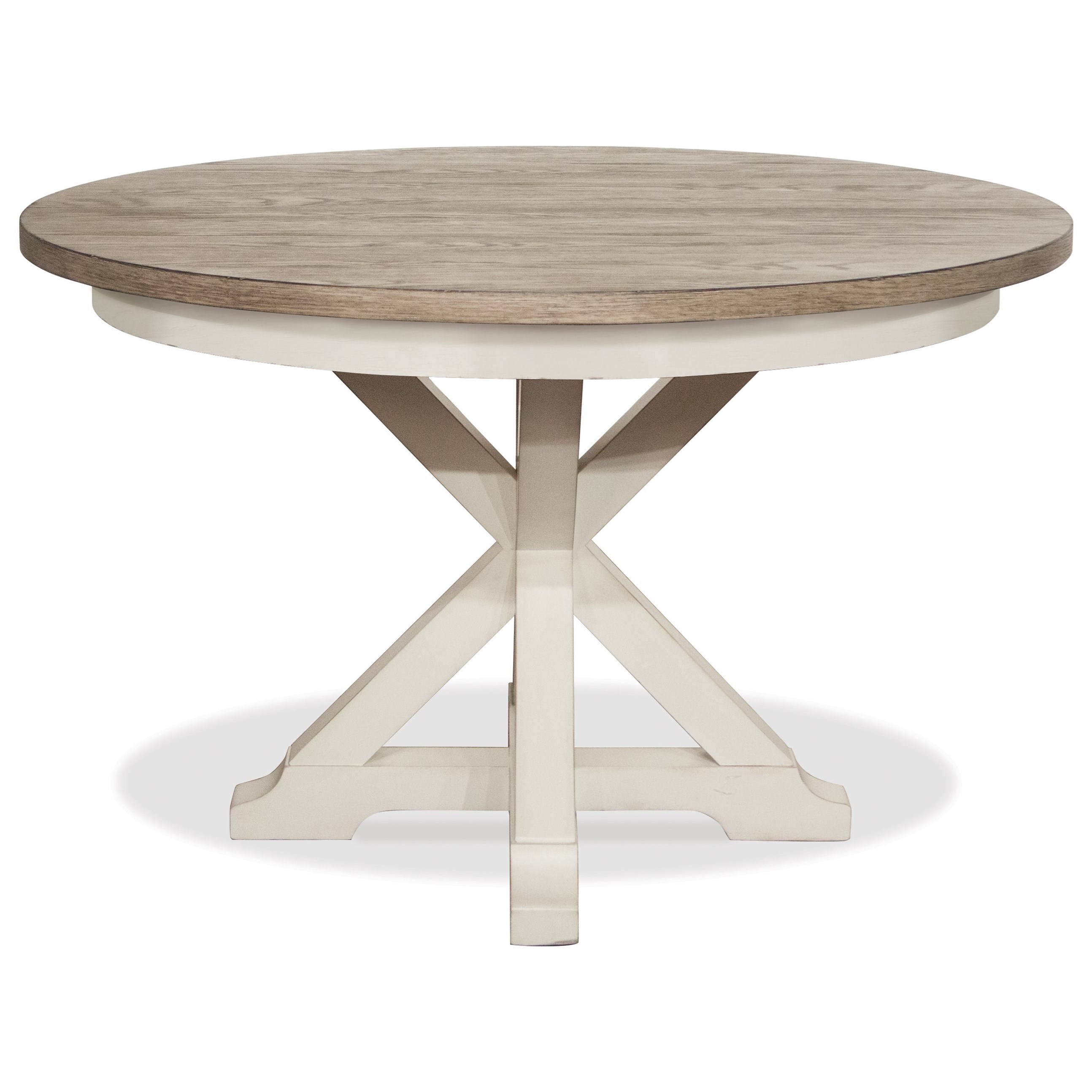 Myra Round Dining Table by Riverside Furniture at Johnny Janosik