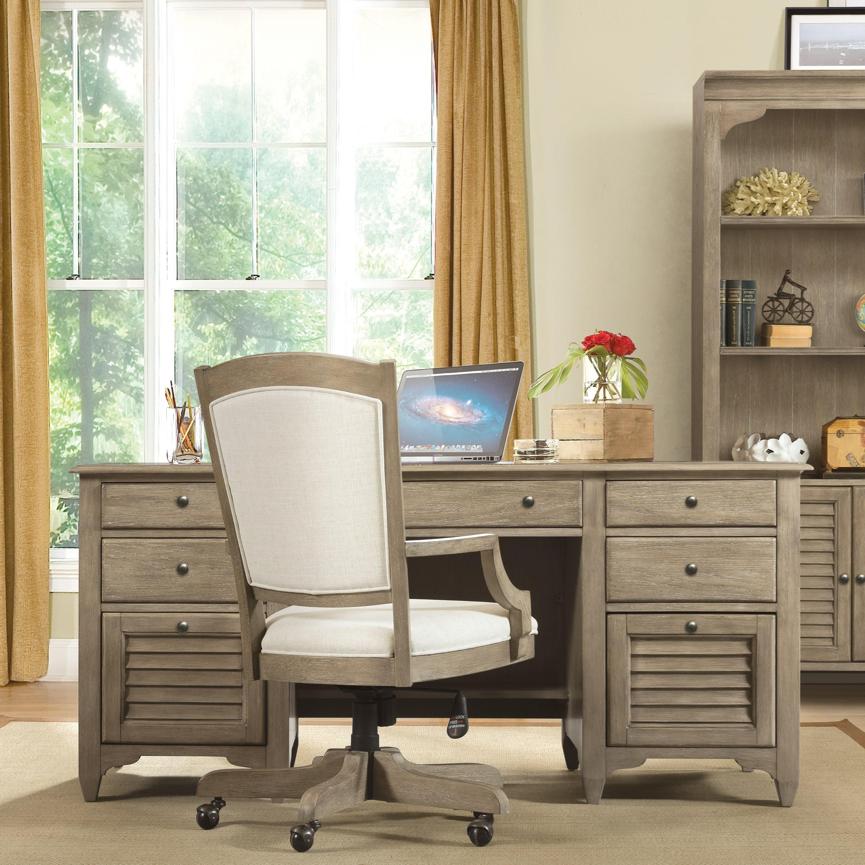 Riverside Home Office Executive Desk 44732: Riverside Furniture Myra 59420 Executive Desk With File