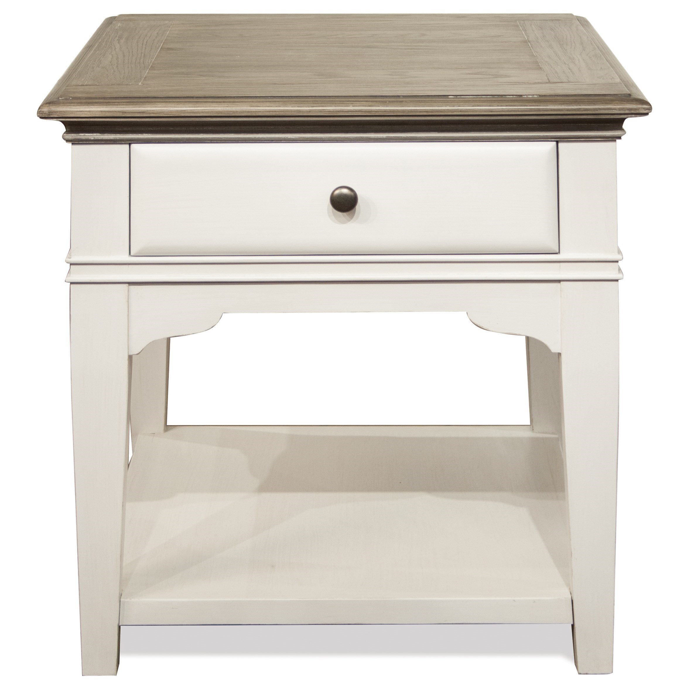 Riverside Furniture Myra Transitional Leg Side Table