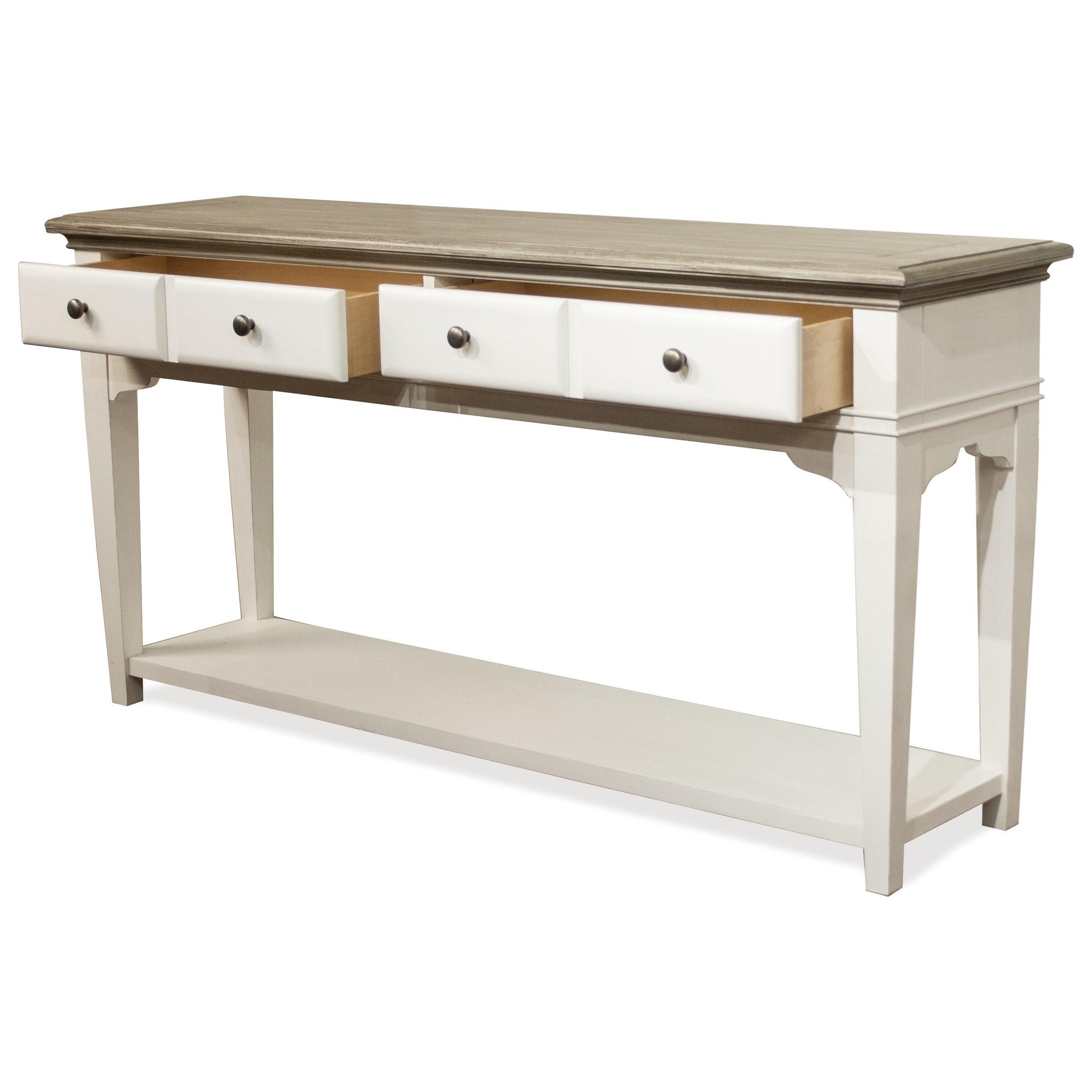 Riverside Furniture Myra Transitional 2 Drawer Sofa Table
