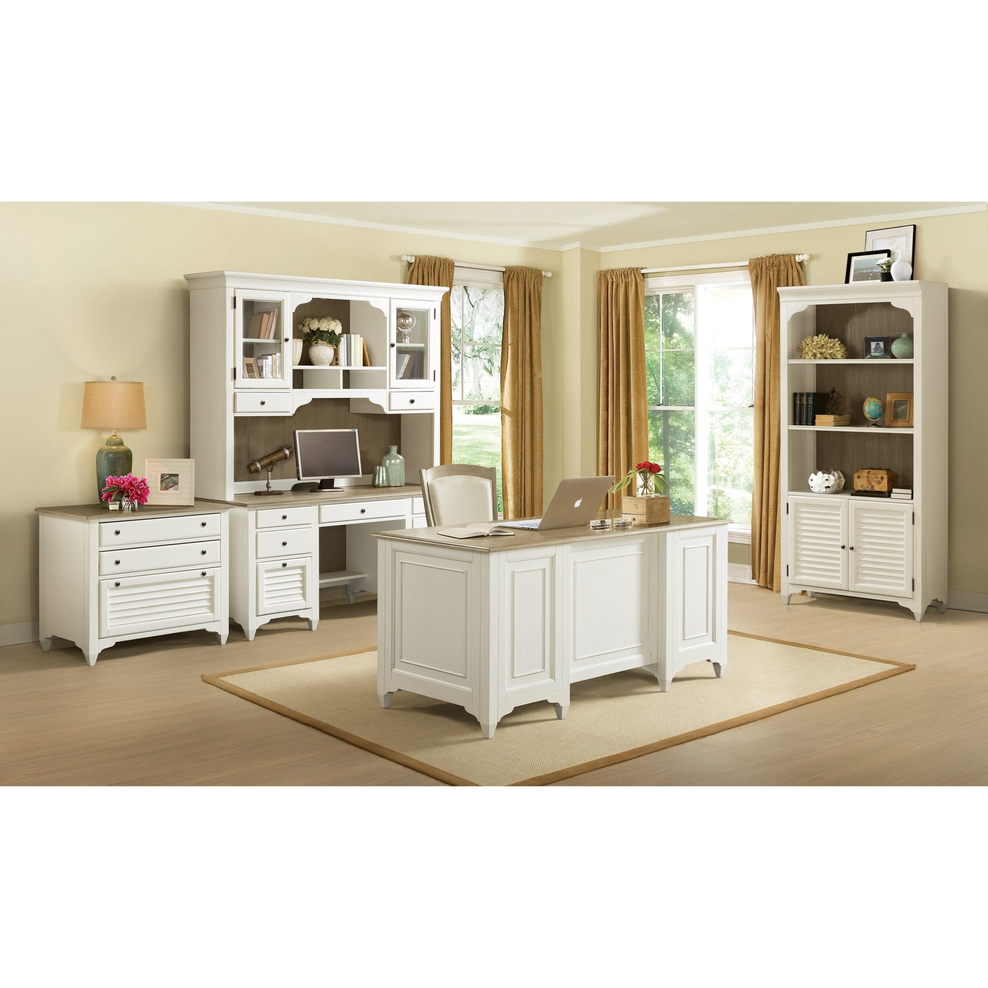 Riverside Home Office Executive Desk 44732: Riverside Furniture Myra Executive Desk With File Drawers