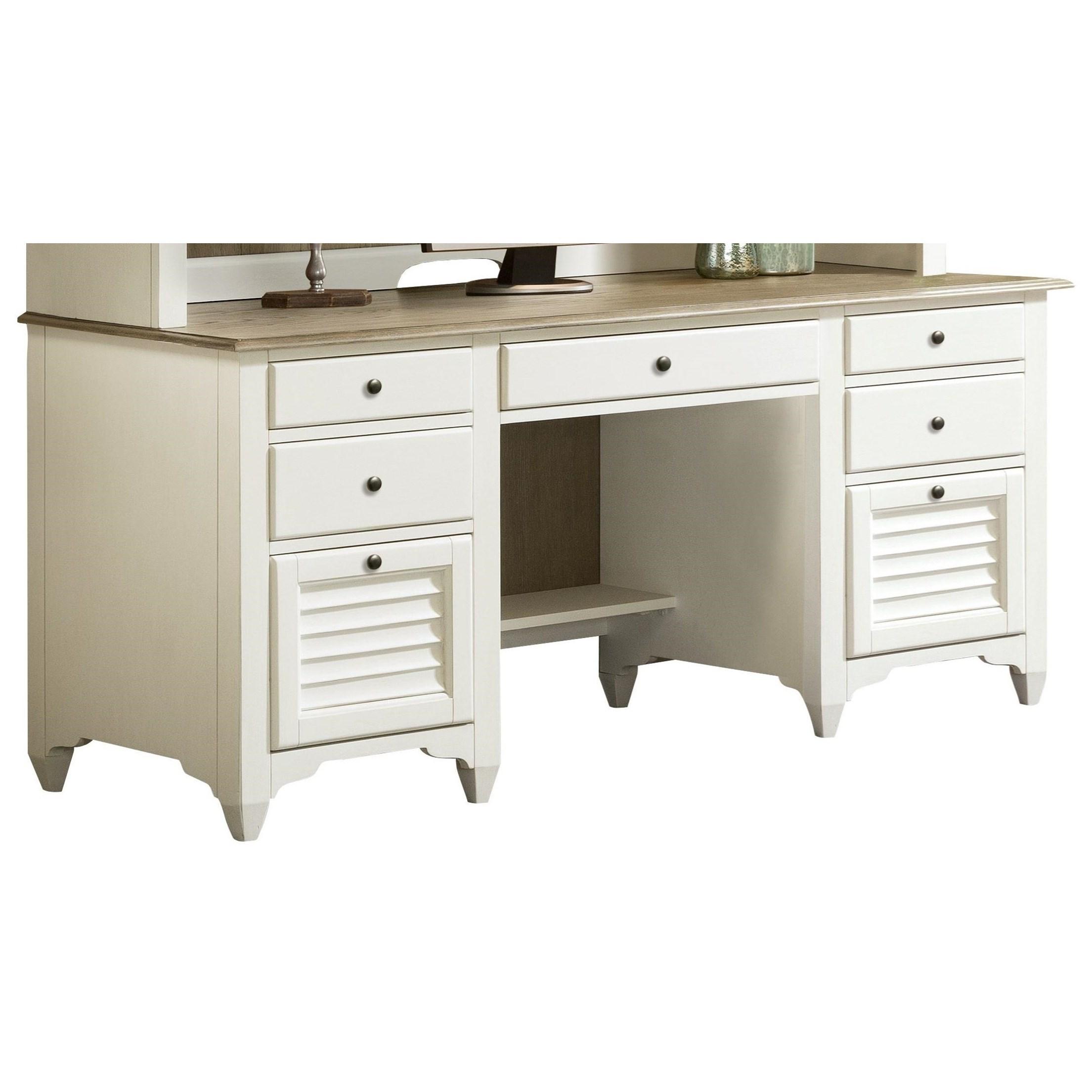 Myra Credenza Desk by Riverside Furniture at Johnny Janosik