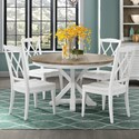 Riverside Furniture Myra 5 Piece Table and Chair Set - Item Number: 59550+357+4x347