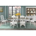 Riverside Furniture Myra 7 Piece Table and Chair Set - Item Number: 59551+358+2x398+4x397
