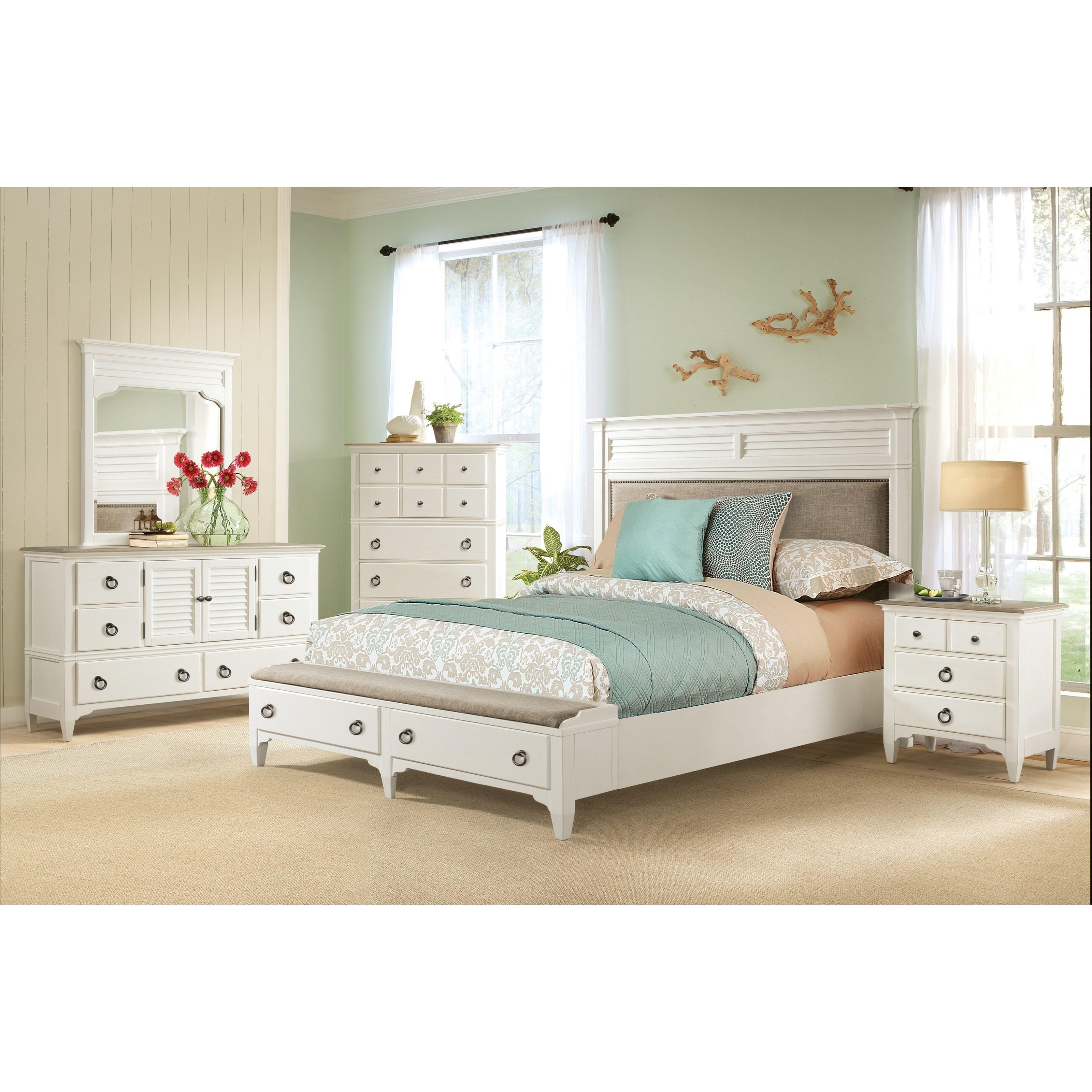 Riverside Furniture Myra Transitional Door Dresser And
