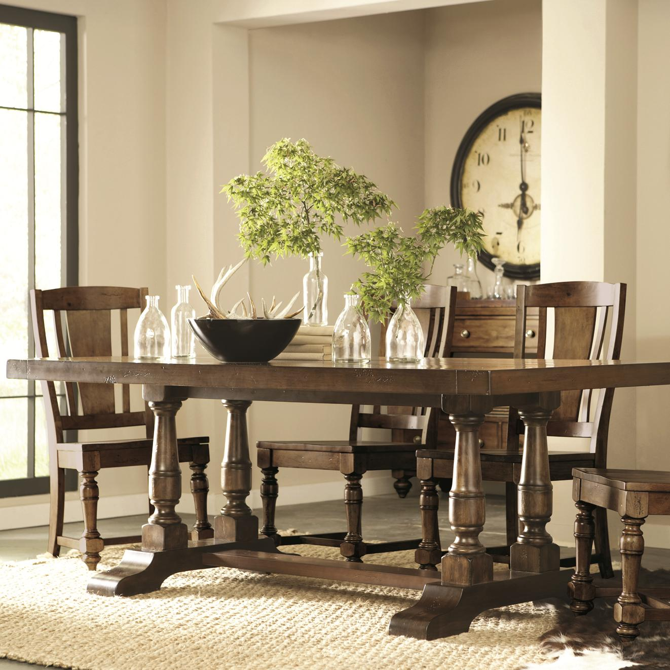 Newburgh 5 Piece Rectangular Dining Table And Side Chair Set By Riverside  Furniture