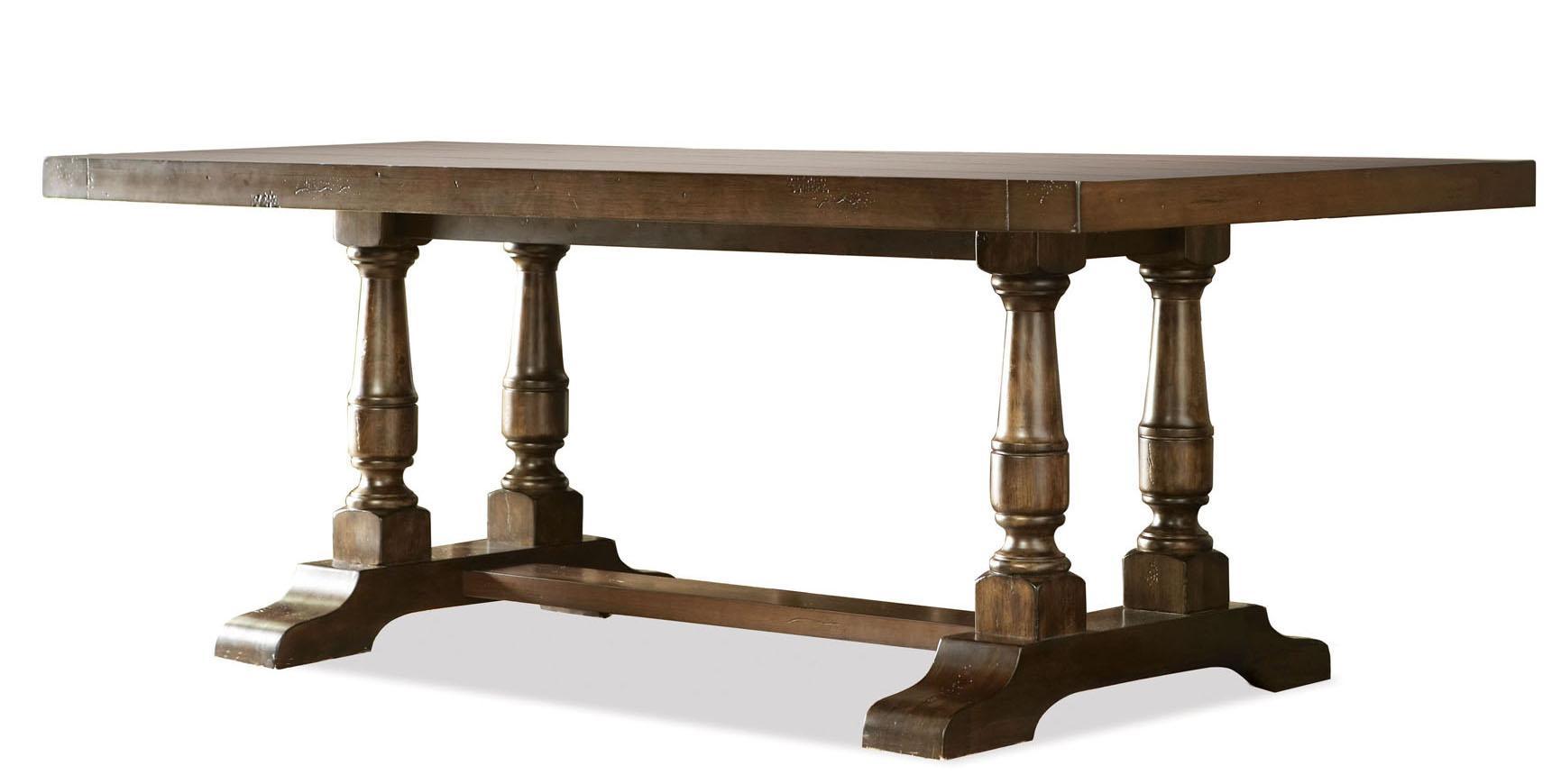 Riverside Furniture Newburgh Alder Hardwood Solid Rectangular Dining Table  With Alder Veneer   AHFA   Dining Room Table Dealer Locator