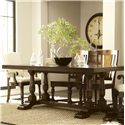 Riverside Furniture Newburgh Alder Hardwood Solid Rectangular Dining Table with Alder Veneer - 37450 - Shown with Side Chairs