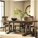 Riverside Furniture Newburgh Server with 5 Drawers - 37456 - Shown with Rectangular Dining Table and Side Chairs