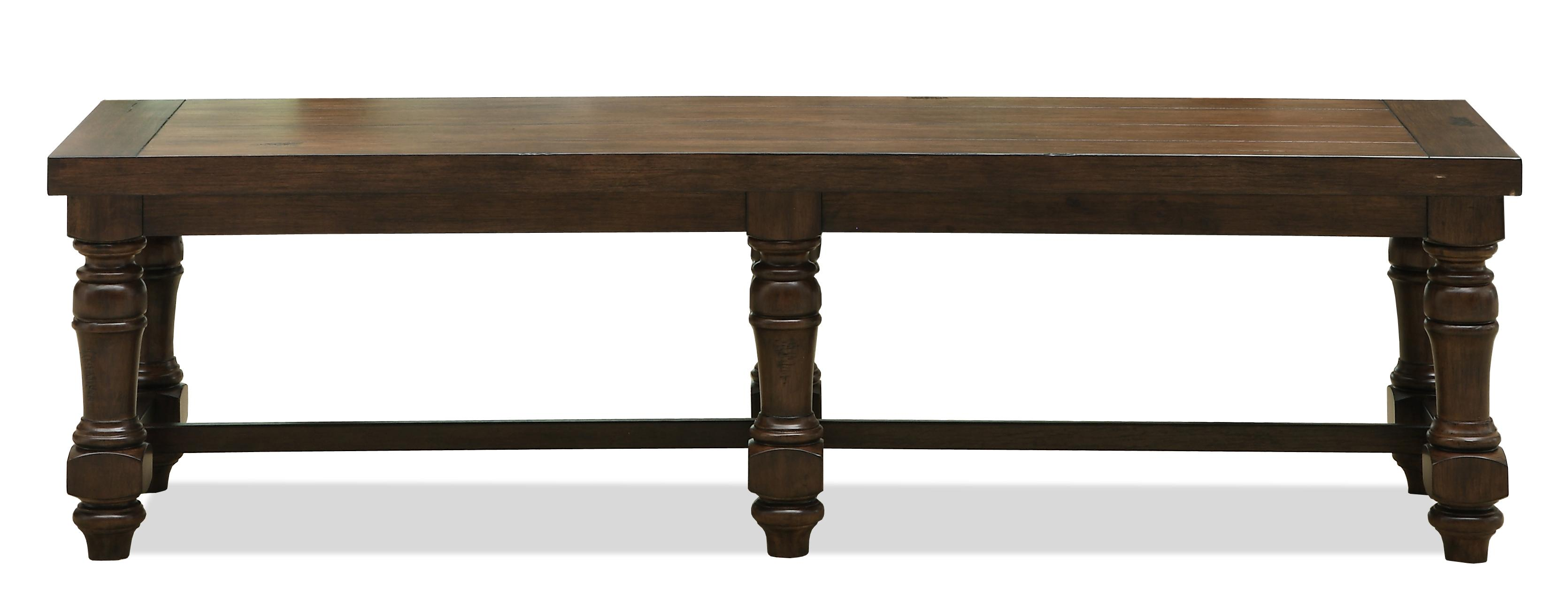 Riverside Furniture Newburgh Traditional Dining Bench - AHFA - Bench ...
