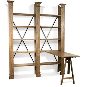 Riverside Furniture Northcote Adjustable Desk and Bookcase Combo
