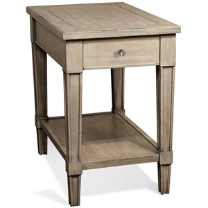 Riverside Furniture Parkdale Rectangle Chairside Table