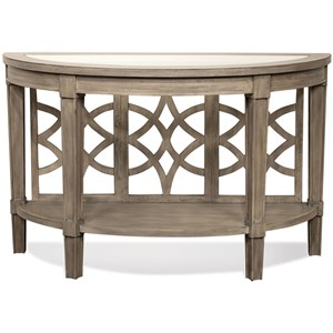 Riverside Furniture Parkdale Demilune Sofa Table